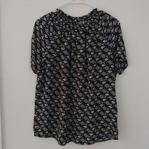 Philosophy Black & White Patterned Top